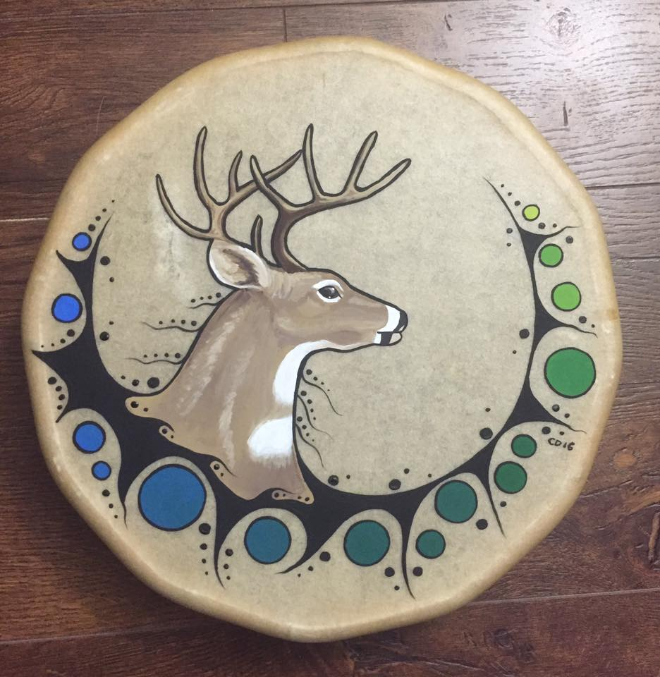 Swimming Deer Drum
