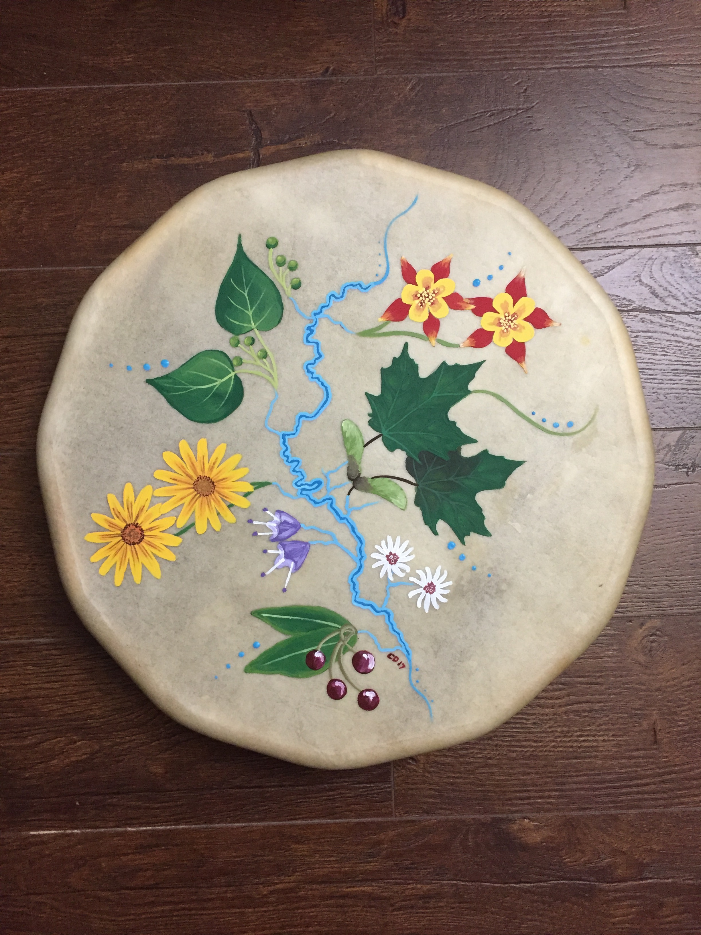 Grand River Drum Painting