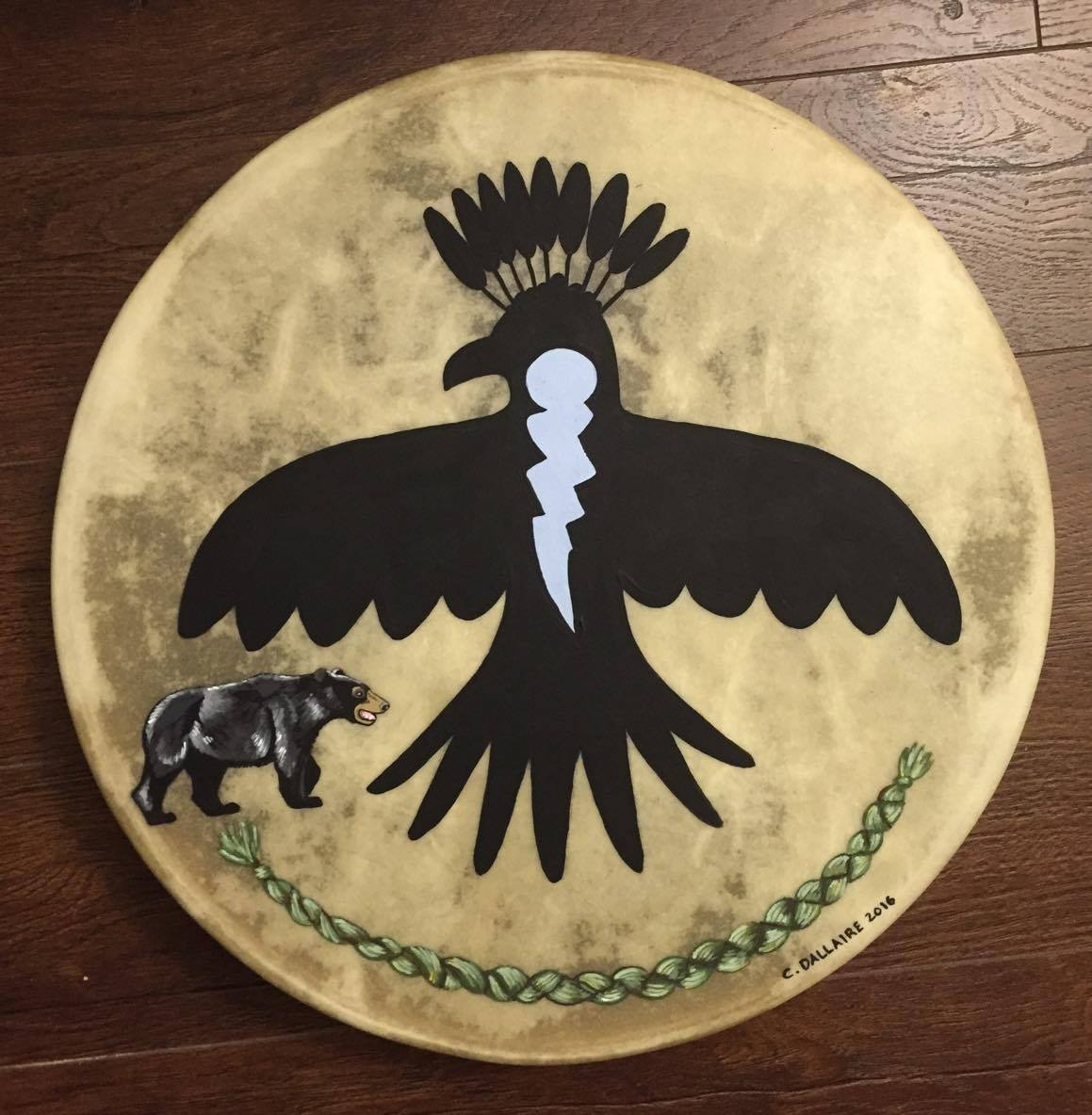 Thunderbird, Bear & Sweetgrass Drum
