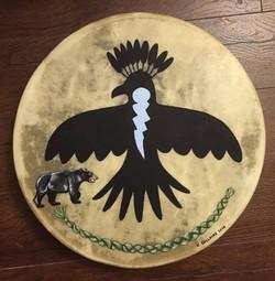 Thunderbird, Bear & Sweetgrass Drum