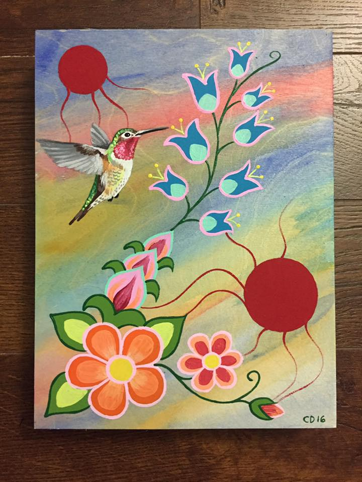 Hummingbird & Woodland Florals