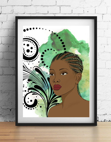 'Aaliyah' A4 unframed print