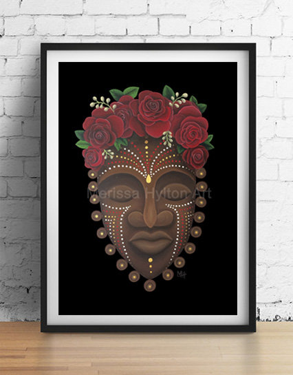 'Rose' A4 unframed print