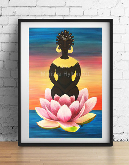 'Goddess Rising' A4 unframed print