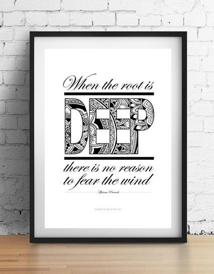 'When the root is deep' A4 unframed print
