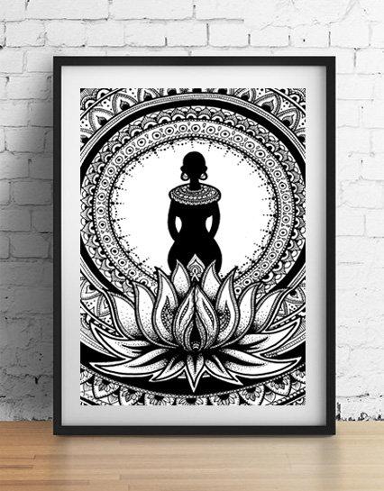 'Goddess' A4 unframed print