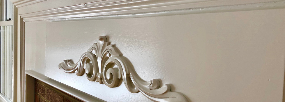 Smooth finish for a fireplace