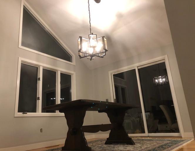 Light Grey Interior Dining Room