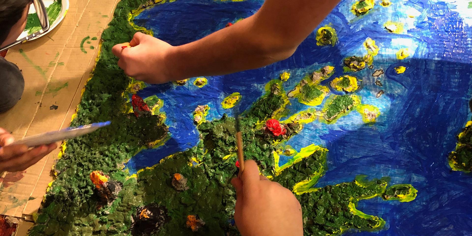 χρωματίζουμε τον χάρτη μας
