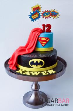 Geburtstagstorte Batman Superman