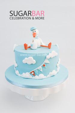 Babyshower Geburtstagstorte