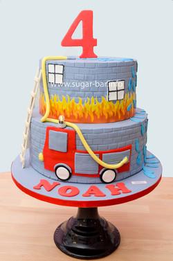 Geburtstagstorte Feuerwehr Torte