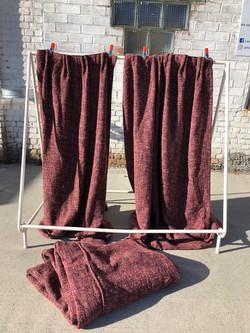 Rideaux laine & couvre-lit double