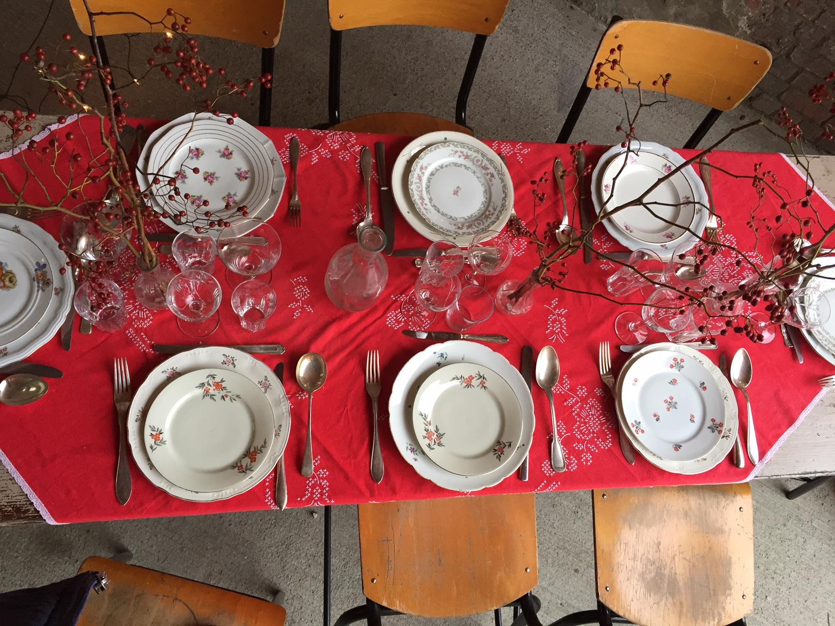 Vaisselle dépareillée
