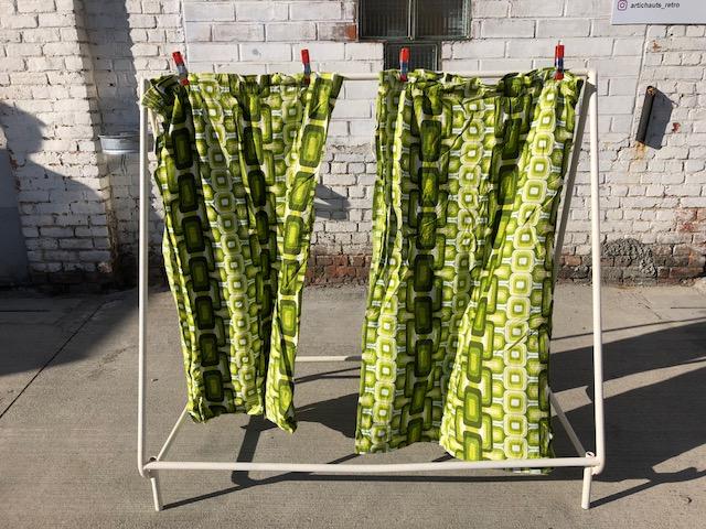 Rideaux verts 70's