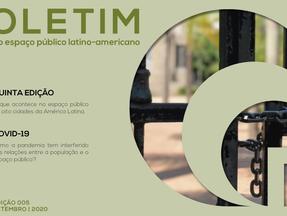 Lançada 5ª edição do Boletim do Espaço Público