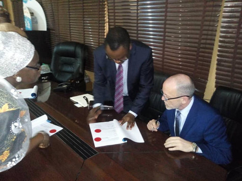 Contract between the Government of Ogun State and ITS GmbH