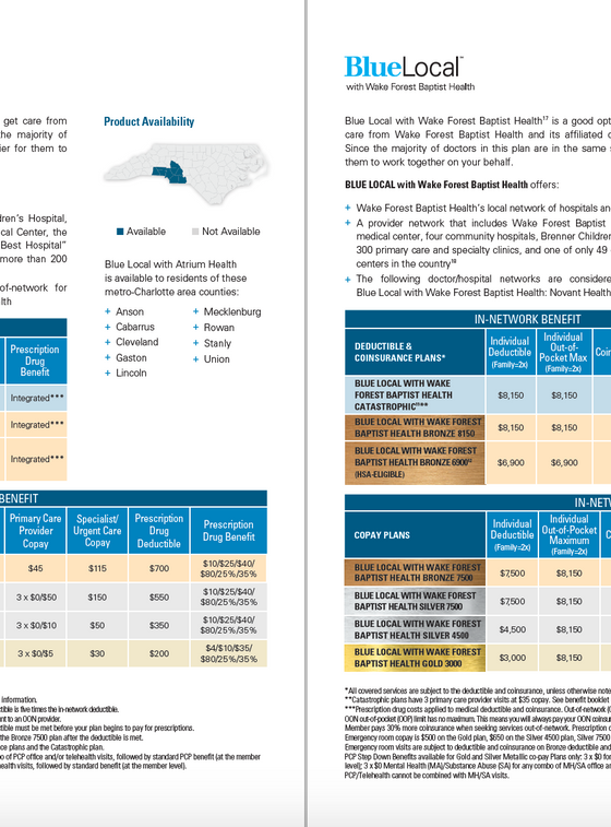 BCBSNC Individual Health Plans - Pg 5.pn