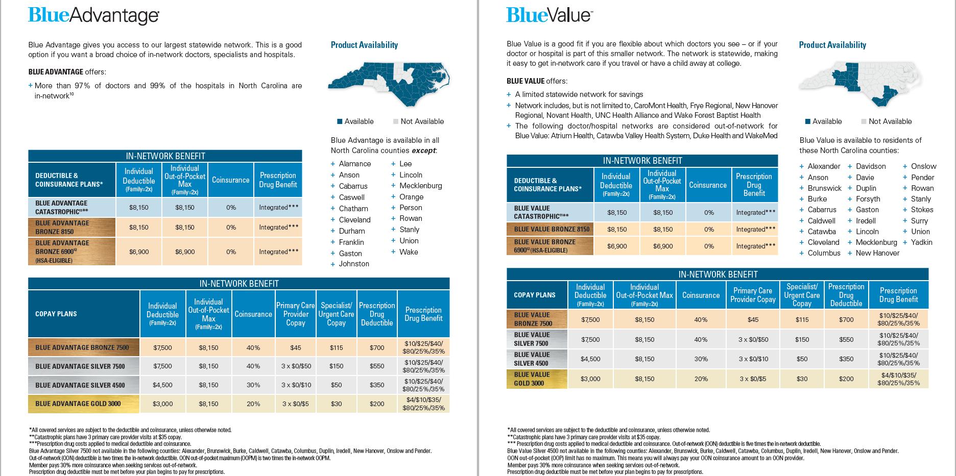 BCBSNC Individual Health Plans - Pg 4.pn