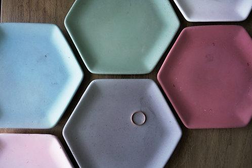 Modern Concrete Hexagon Ring Dish