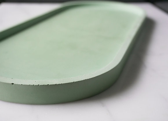 XL Concrete Oval Tray