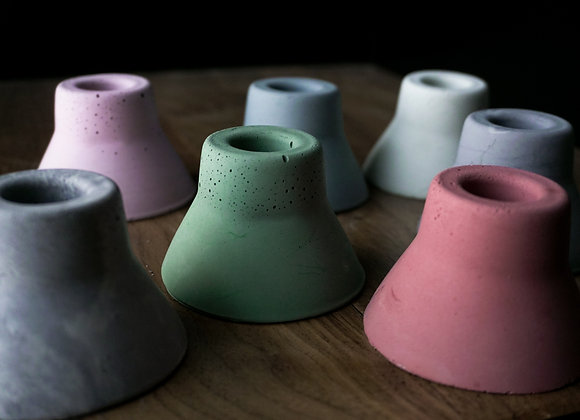 Modern Concrete Taper Candle Holder