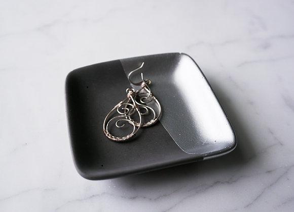 Charcoal and Metallic Square Dish