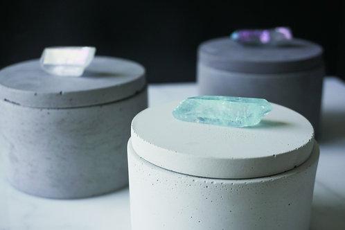 Jar with Crystal Quartz Lid