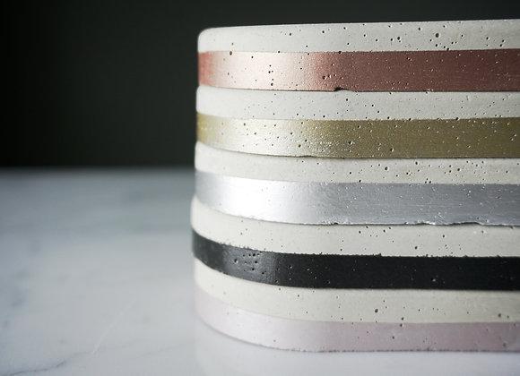 White and Metallic Soap Dish