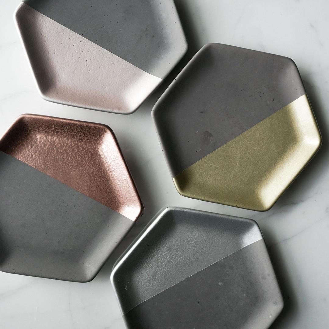 Painted Hexagon Dish