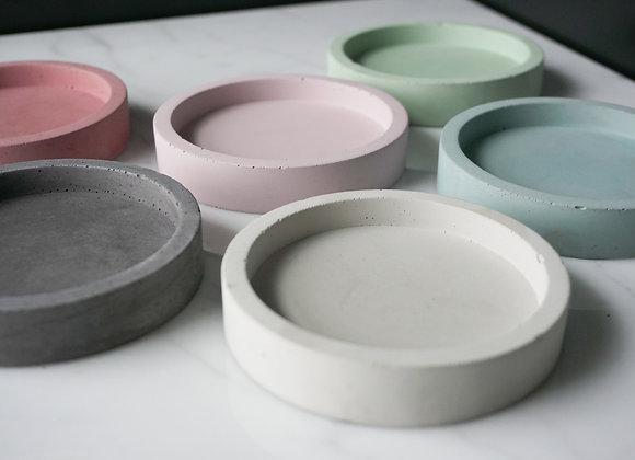 Small Round Concrete Tray