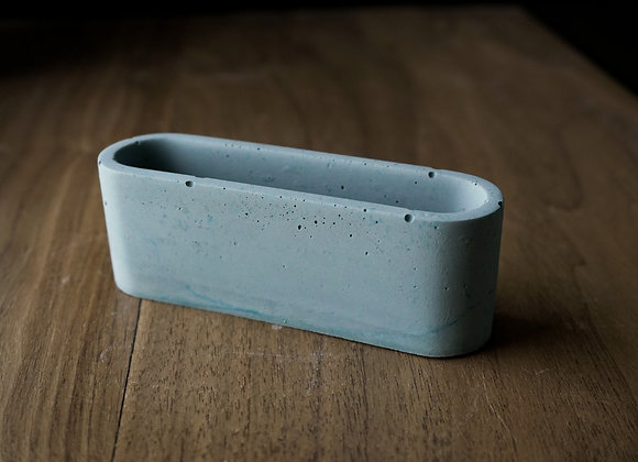 Oval Concrete Business Card Holder