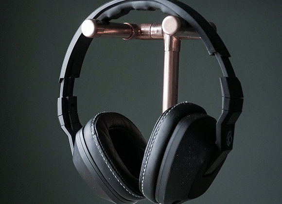 Concrete and Copper Headphone Holder