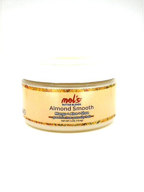 Almond Smooth: Mango + Aloe + Shea Butter Blend | Moisture Sealing for Hair+Skin