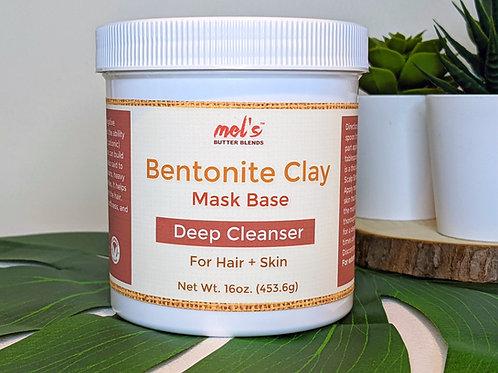 Mel's Bentonite Clay Detox Mask Base 16oz.