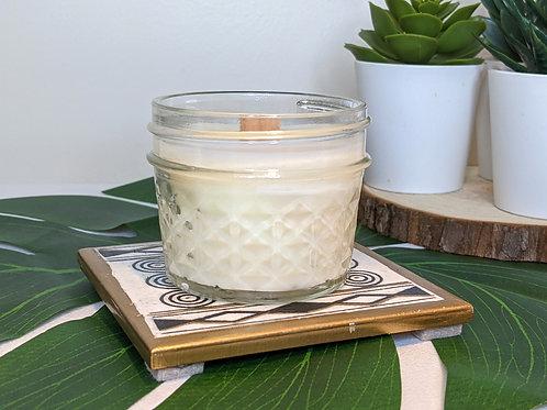 Mel's Wood Wick Soy Wax Candles 4oz.   Vanilla Cupcake