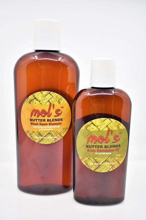 Washday Bundle! Scalp Stimulation Oil + Black Neem Shampoo