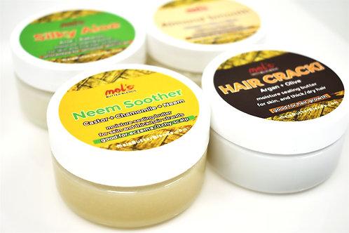 4 Butter Sample PACK | Hair Crack! + Castor-Neem