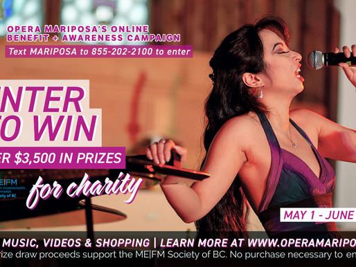 Opera Mariposa's May 2021 Benefit + Awareness Campaign