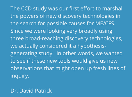Interview with Dr. David Patrick and a Window into Current ME/CFS Research at UBC
