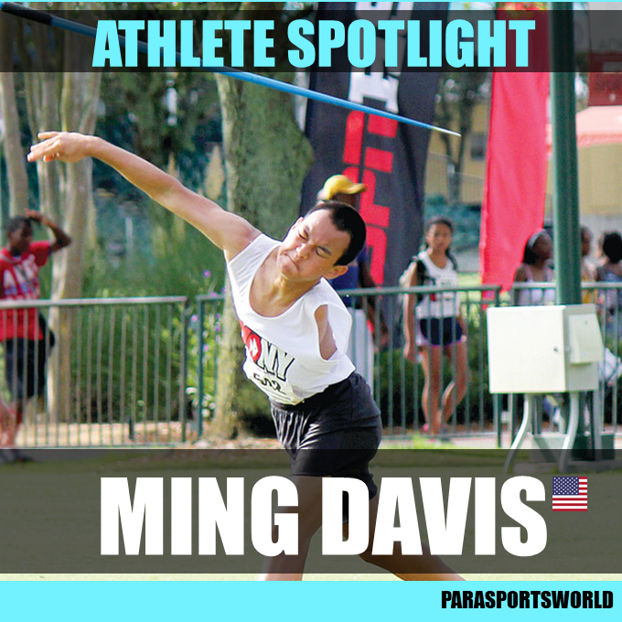 Paralympian Ming Davis for Parasports World