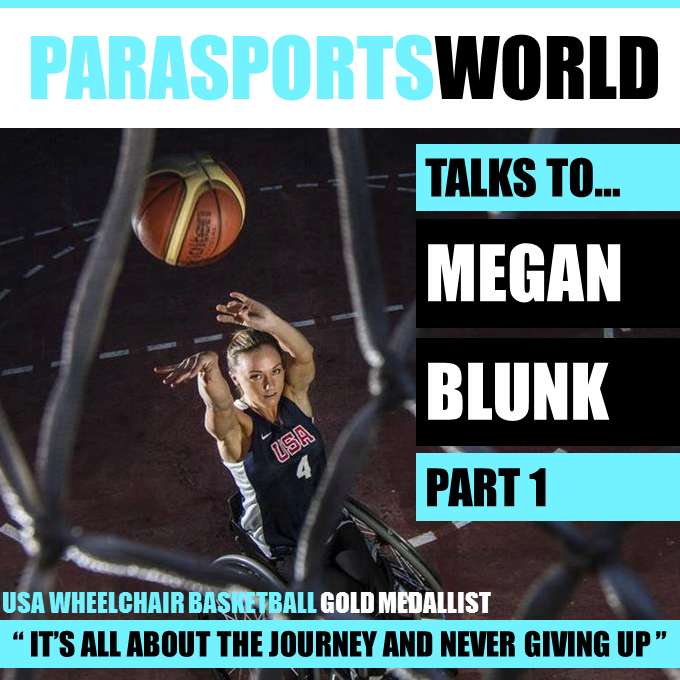 Paralympian Megan Blunk talking to Parapsorts World
