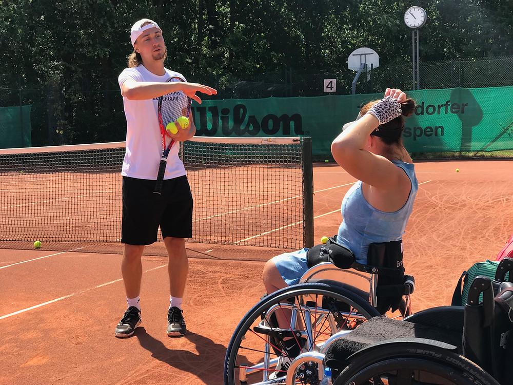 Niklas Höfken with Katharina Krueger // German Wheelchair Tennis Open 2019 // Parasports World