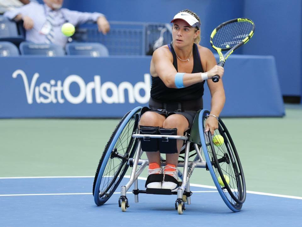 Lucy Shuker in action during the US Open
