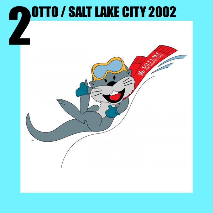 Otto the otter, the Paralympic mascot for Salt Lake City 2002
