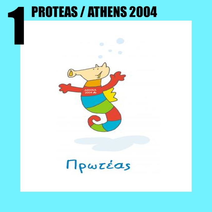 Proteas the seahorse from the Athens 2004 Paralympic Games