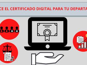 ¿Cómo afecta el certificado digital a tu departamento?