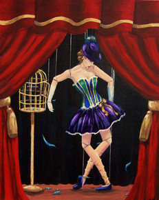 """Arcryllic Painting - """"The Puppet"""""""