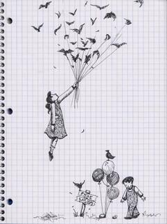 Surrealistic Pen Sketch