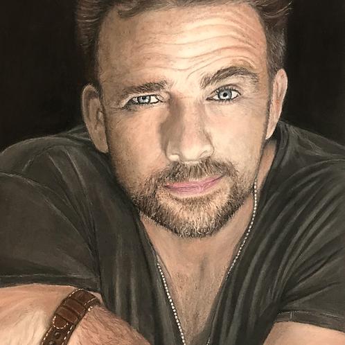 Sean Patrick Flanery Pastel Pencil Drawing Photo Print